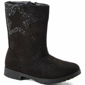 Ositos Black Sequin-Star Boot Girls Toddler 9